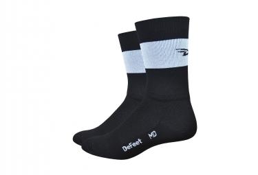 Paire de chaussettes defeet aireator team noir bande blanche 43 45 1 2