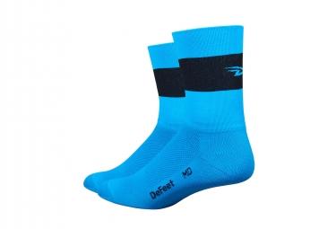 Paire de chaussettes defeet aireator team bleu bande noire 40 42 1 2