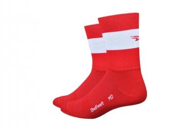 Defleet Aireator Team Socken rot / weiß Streifen