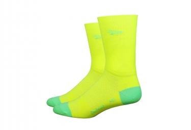 Paire de chaussettes defeet aireator double layer jaune fluo 40 42 1 2