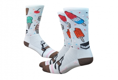 Paire de chaussettes defeet aireator iscream blanc multi couleur 36 39 1 2