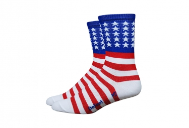 Defeet Aireator USA Socks Red/White/Blue