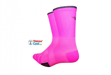 Paire de chaussettes defeet cyclismo rose fluo 36 39 1 2