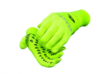 Defeet Duragloves Gloves Etouch Yellow with Reflective Stripe