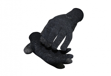 Paire de Gants Longs Defeet Duraglove Etouch Gris Charcoal Wool