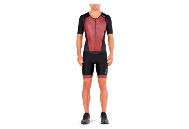 2XU Perform FullZip Wetsuit Black Red