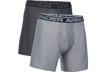 Lot de 2 Boxers Under Armour Original Series Boxerjock 15 cm Gris