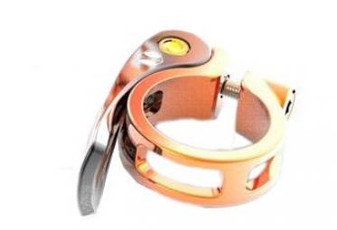 Collier de selle a serrage rapide box helix orange 31 8