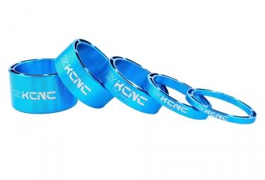 Kit de 5 Entretoises de Direction KCNC Hollow Design Bleu