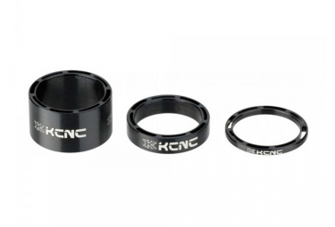 Kit de 3 entretoises de direction kcnc hollow design noir