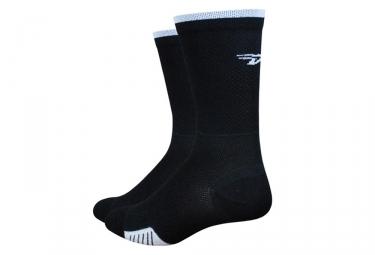 Defeet Cyclismo Socken Schwarz / Weiß Streifen