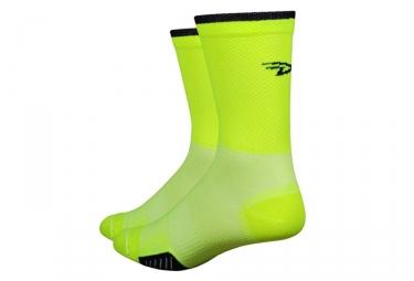 Defeet Cyclismo Socks Neon Gelb