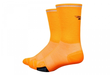 Paire de Chaussettes Defeet Cyclismo Orange Fluo