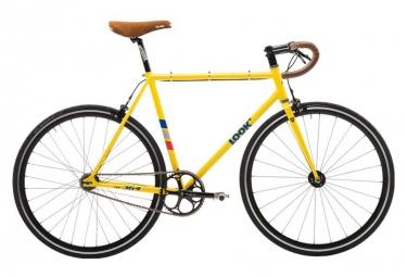 Velo fixie look ac 364 jaune 2017 xs 150 160 cm