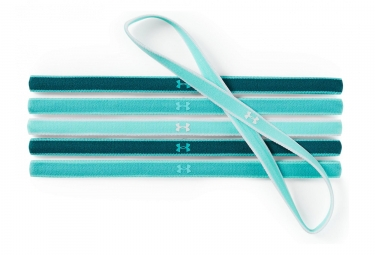 Under Armour Women Mini Headbands (juego de 6) Teal Blue