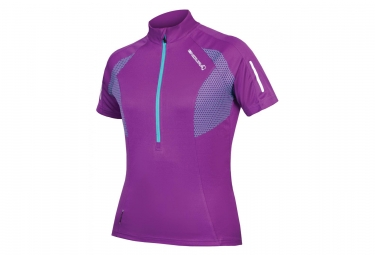 Maillot manches courtes femme endura xtract violet xs