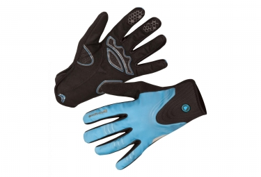 Endura Windchill Women Long Gloves Ultramarine Blue Black