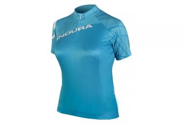 Endura SingleTrack Women Short Sleeves Jersey Ultramarine Blue