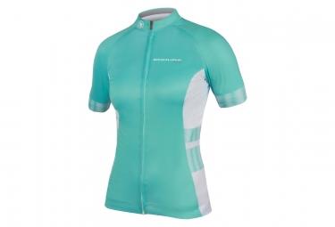 Maillot Manches Courtes Femme Endura Pro SL Lite Bleu Turquoise Blanc
