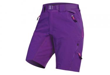 Short vtt femme avec peau endura hummvee ii violet xs