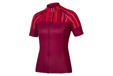 Maillot manches courtes femme endura pinstripe rouge violet m