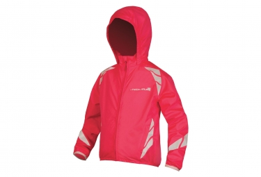 Veste impermeable enfant endura luminite ii rose fluo 11 12 ans