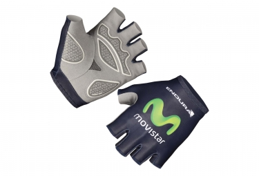 Endura Race Movistar Team 2016 Short Gloves Blue