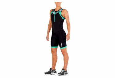 2XU Active Trisuit Women Black Retro Tri Aqua Green