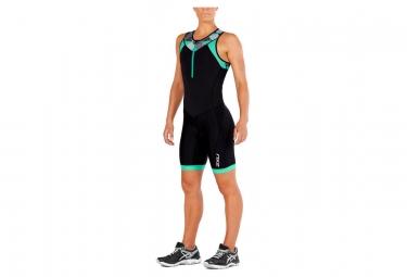Combinaison trifonction femme 2xu active trisuit noir vert l
