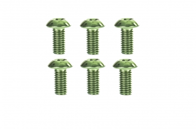 Kit 6 vis titane pour disque vert