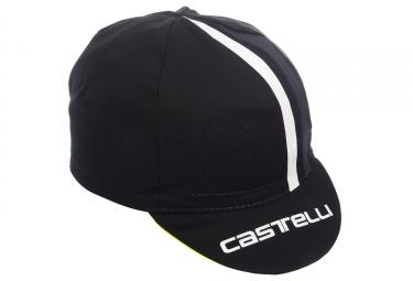 Casquette Castelli 2018 Podio Doppio Noir Jaune