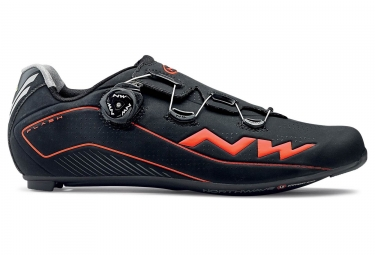Chaussures route northwave flash 2 carbon noir orange 46