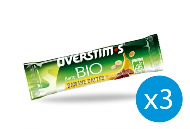 OVERSTIMS Energy Bar ORGANIC Banana - Dates - x3 Bundle
