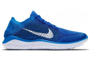 Nike free rn flyknit 2018 bleu blanc homme 42