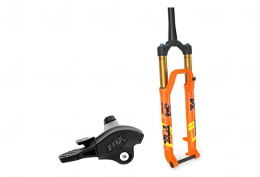 Fourche fox racing shox 34 sc float factory 29 kabolt remote 2pos boost 15x110 deport 51mm orange 2019 120