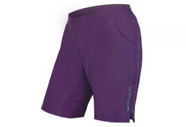 Short vtt avec peau femme endura trekkit violet xs