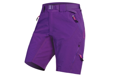 Endura Hummvee II Women Sport Shorts with Liner Purple