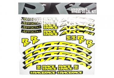 Stickers race face pour jante arc 24 aeffect sl jaune fluo