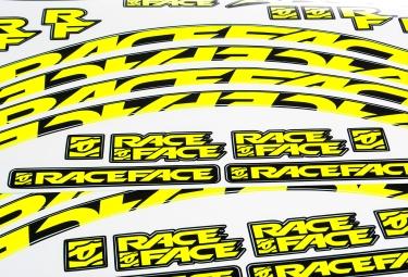 Stickers Race Face pour Jante ARC 24´´ Aeffect SL Jaune Fluo