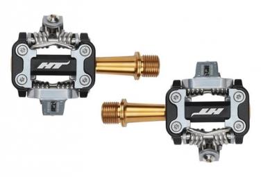 Paire de pedales vtt ht components m1 titane noir