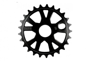 Couronne radio bike alloy black 25 dents noir