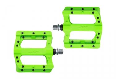 Paire de Pedales plates HT Components Nylon PA01 Vert