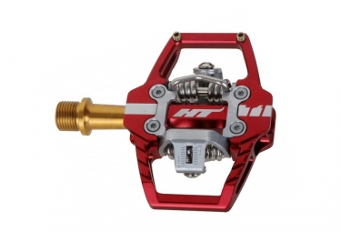 HT Components T1 Titanium Clipless Pedals Red