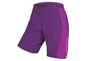 Short vtt avec peau femme endura pulse violet xs