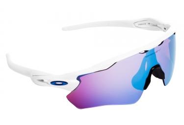 Paire de lunettes oakley radar ev path blanc sapphire snow ref oo9208 0138