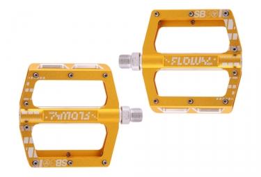 SB3 Flowy AM Flat Pedals Gold