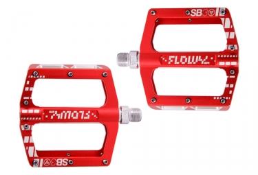 SB3 Flowy AM Flat Pedals Red