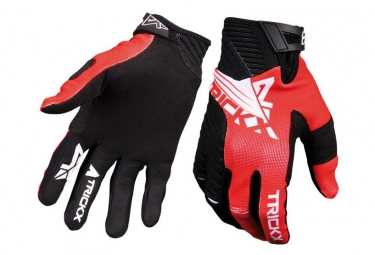 Trick X Race Long Gloves Kids Black/Red