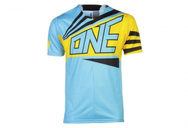 One industries maillot manches courtes ion bleu m