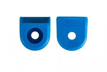 Paire de proteges manivelles sb3 bleu